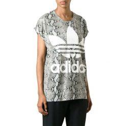 T-shirty damskie: T-shirt w kolorze szarym ze wzorem