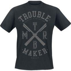 T-shirty męskie z nadrukiem: Badly Trouble Maker T-Shirt czarny