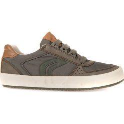"""Sneakersy """"Alonisso"""" w kolorze szarobrązowym. Niebieskie trampki chłopięce marki geox kids, z gumy. W wyprzedaży za 129,95 zł."""