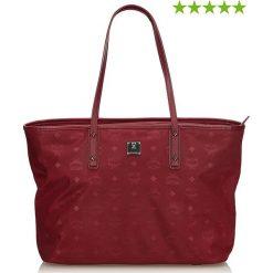 Shopper bag damskie: Skórzany shopper bag w kolorze czerwonym - 36 x 28 x 16 cm