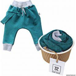 Odzież dziecięca: Spodnie baggy szelka aqua