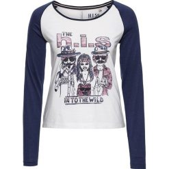 T-shirty damskie: Koszulka w kolorze granatowo-białym