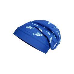 Playshoes  Czapka UV Beanie Rekin - niebieski - Gr.Moda (2 - 6 lat). Niebieskie czapeczki niemowlęce marki Playshoes, z elastanu. Za 29,00 zł.