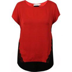 Bluzki asymetryczne: Bluzka w kolorze czerwono-czarnym