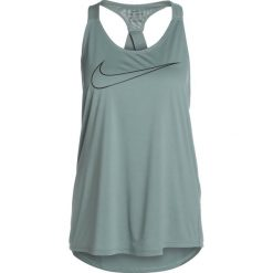 Nike Performance TANK ELASTIKA  Koszulka sportowa clay green/sequoia. Zielone topy sportowe damskie marki Nike Performance, xs, z materiału. Za 139,00 zł.