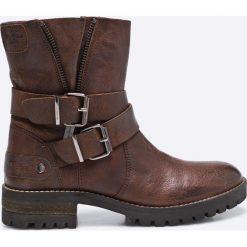 Pepe Jeans - Botki. Brązowe botki damskie na obcasie marki NEWFEEL, z gumy. W wyprzedaży za 299,90 zł.