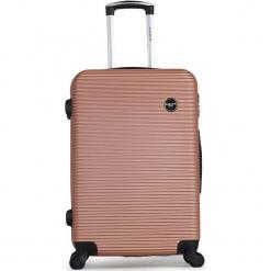 """Walizka """"London"""" w kolorze różowozłotym - 41 x 60 x 26 cm. Żółte walizki marki Hero & BlueStar, z materiału. W wyprzedaży za 217,95 zł."""