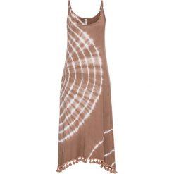 Sukienki: Sukienka bonprix szarobrązowy batikowy
