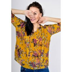Koszule body: Plisowana koszula w kwiaty