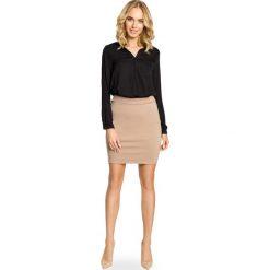 Spódniczki: Cappuccino Ołówkowa Spódnica przed Kolano