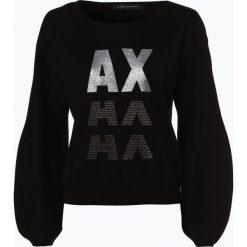 Armani Exchange - Sweter damski, czarny. Czarne swetry klasyczne damskie marki Armani Exchange, l, z materiału, z kapturem. Za 349,95 zł.