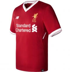 Koszulka Liverpool LFC Home Kit Jr. Czerwone koszulki sportowe męskie marki New Balance, na jesień, m, z materiału. Za 199,99 zł.