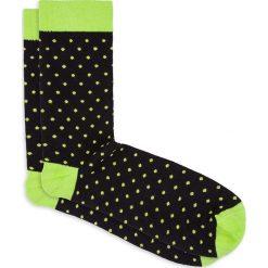 Skarpety męskie we wzory U22 - zielone. Czarne skarpetki męskie marki Ombre Clothing, m, w kropki. Za 7,99 zł.