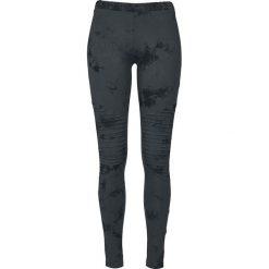 Spodnie damskie: Urban Classics Ladies Biker Batik Leggings Legginsy ciemnoniebieski/czarny