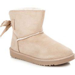 Buty zimowe damskie: ŚNIEGOWCE Z KOKARDKĄ
