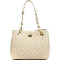 Torebki klasyczne damskie: Skórzana torebka w kolorze beżowym – (S)33 x (W)26 x (G)15 cm