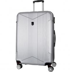 Walizka w kolorze srebrnym - 45 l. Szare walizki Bagstone & Travel One, z materiału. W wyprzedaży za 179,95 zł.