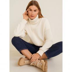 Mango - Bluza Trisu. Szare bluzy damskie Mango, l, z aplikacjami, z bawełny, bez kaptura. Za 199,90 zł.