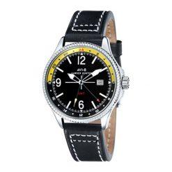 "Zegarki męskie: Zegarek ""AV-4007-02"" w kolorze srebrno-czarnym"