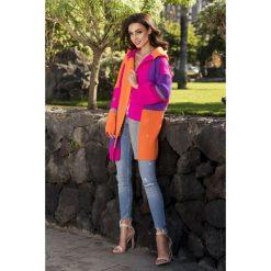 Unikalny sweter kardigan multikolor ls204. Brązowe kardigany damskie Lemoniade. W wyprzedaży za 119,00 zł.