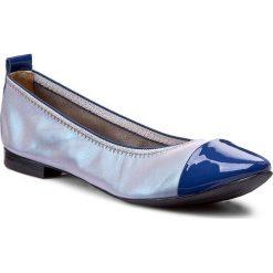 Baleriny LAURA MESSI - 1106-744-749 Niebieski. Białe baleriny damskie lakierowane marki Born2be, ze skóry, na płaskiej podeszwie. W wyprzedaży za 169,00 zł.