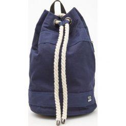 Plecaki męskie: Plecak worek z regulacją na sznurek - Granatowy