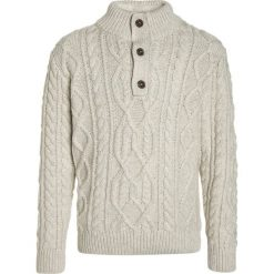 Swetry chłopięce: GAP CABLE BUTTON MOCK Sweter oatmeal heather
