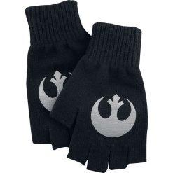 Rękawiczki damskie: Star Wars Rebel Logo Rękawiczki bez palców czarny