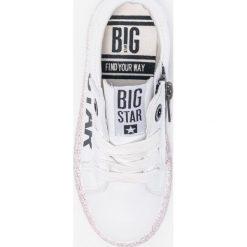 Big Star - Tenisówki dziecięce. Szare buty sportowe dziewczęce BIG STAR, z materiału, na sznurówki. W wyprzedaży za 79,90 zł.