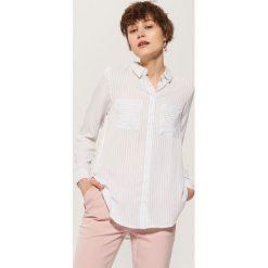 Koszula w paski - Kremowy. Białe koszule damskie marki House, l, w paski. Za 59,99 zł.