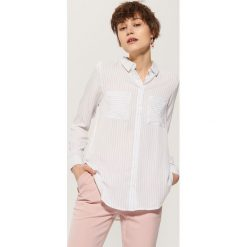 Koszule damskie: Koszula w paski – Kremowy