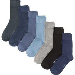 Skarpetki biznesowe z dniami tygodnia (7 par) bonprix odcienie niebieskiego. Niebieskie skarpetki męskie bonprix. Za 38,43 zł.