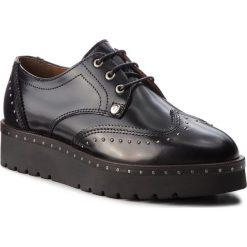 Oxfordy TRUSSARDI JEANS - 79A00292 K299. Czarne creepersy damskie Trussardi Jeans, z jeansu, na koturnie. Za 679,00 zł.