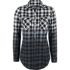 Bluzki damskie: Black Premium by EMP Checked Dip Dye Shirt Bluzka damska biały/czarny