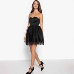 Sukienki hiszpanki: Sukienka z gorsetem i tiulową spódnicą ozdobioną diamencikami