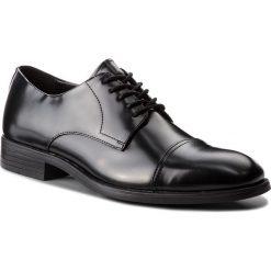 Półbuty CALVIN KLEIN - Carnell F1360 Black. Czarne półbuty skórzane męskie marki Calvin Klein. Za 719,00 zł.