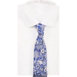 Eton TIE Krawat blue. Niebieskie krawaty męskie Eton, z jedwabiu. Za 419,00 zł.