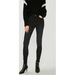 Jacqueline de Yong - Jeansy. Czarne jeansy damskie rurki marki Jacqueline de Yong, z bawełny. Za 169,90 zł.