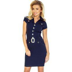 Paris Sukienka szmizjerka z guzikami - GRANATOWA. Niebieskie sukienki na komunię numoco, s, szmizjerki. Za 169,00 zł.