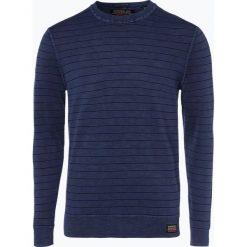 Superdry - Sweter męski, niebieski. Pomarańczowe swetry klasyczne męskie marki Superdry, l, z bawełny, z kapturem. Za 329,95 zł.