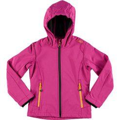 Kurtka softshellowa w kolorze fuksji. Czerwone kurtki dziewczęce marki Reserved, z kapturem. W wyprzedaży za 99,95 zł.