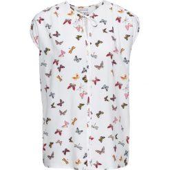 Bluzki damskie: Bluzka, krótki rękaw bonprix biały z nadrukiem