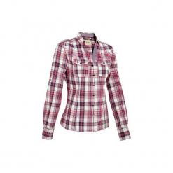 Koszula jeździecka Sentier damska. Czerwone koszule damskie marki DOMYOS, z elastanu. Za 129,99 zł.