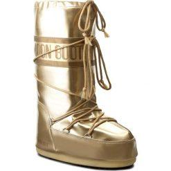 Śniegowce MOON BOOT - Vinile Met. 14021400003 Oro D. Żółte buty zimowe damskie marki Kazar, ze skóry, na wysokim obcasie, na obcasie. Za 479,00 zł.