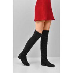 Buty zimowe damskie: Czarne Kozaki Recreation