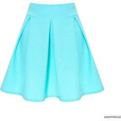 Spódnica rozkloszowana kontrafałdy mięta. Niebieskie spódnice wieczorowe marki Pakamera, rozkloszowane. Za 89,00 zł.
