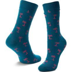 Skarpety Wysokie Unisex HAPPY SOCKS - PAB01-6001 Niebieski. Niebieskie skarpetki męskie Happy Socks, z bawełny. Za 34,90 zł.