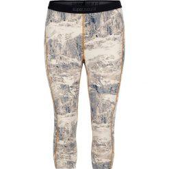 Legginsy sportowe damskie: Sportowe legginsy w kolorze kremowo-szarym