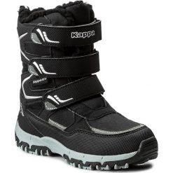 Buty zimowe chłopięce: Śniegowce KAPPA – Great Tex 260558K Black/Silver 1115