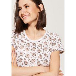 Piżamy damskie: Piżamowa koszulka pusheen - Wielobarwn